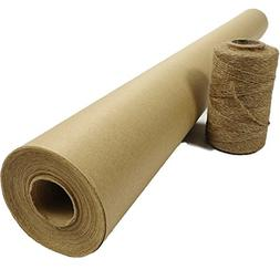 Wrapping Kraft Paper Jumbo Roll Brown 30''x1200'' & Natural