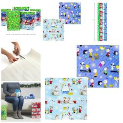 Wrapping Paper Bundle with Cut Lines on Reverse Holiday Chri