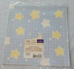 HALLMARK Wrapping Paper GIFT WRAP Baby Shower BOY Moon & Sta