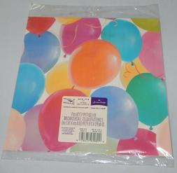 HALLMARK Wrapping Paper GIFT WRAP Birthday PARTY BALLOONS 2