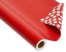 American Greetings, Wrapping Paper, Reversible Red and Polka