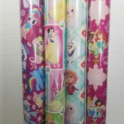 Wrapping Paper Roll Christmas 40 Sq Ft Disney Princess Froze