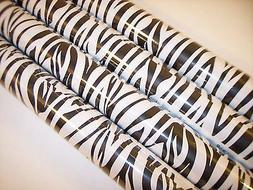 Zebra  Wrapping Paper Animal  Gift Wrap  Black White Stripes